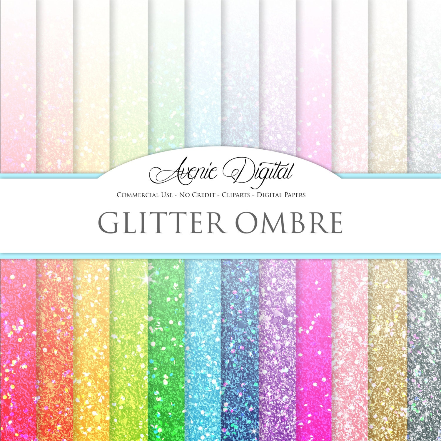 How to scrapbook with glitter - Glitter Ombre Digital Paper Scrapbooking Backgrounds Gradient Patterns For Commercial Use Dip Dye Rainbow Confetti Instant Download
