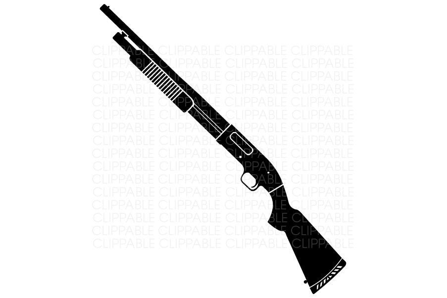 pump shotgun clip art digital graphics instant download shotgun clip art logo shotgun shell clip art