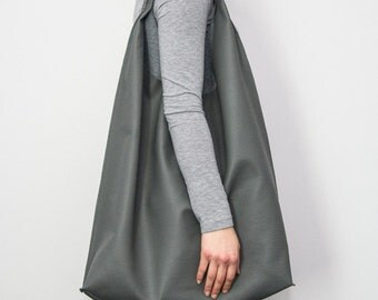 Zuza bag shopper graphite pu leather mad casual