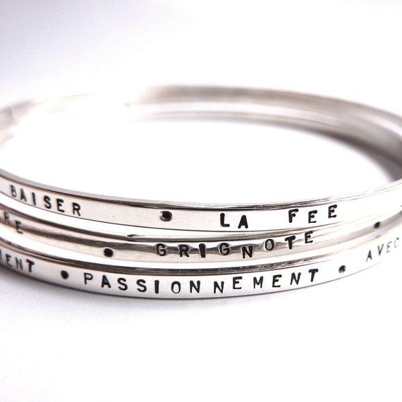 bracelets en argent personnalisable jonc salle. Black Bedroom Furniture Sets. Home Design Ideas