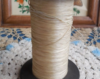 Large Spool of Silk Thread from Canisteo Silk Co, Canisteo, NY, Vintage Wood Spool of Silk Thread