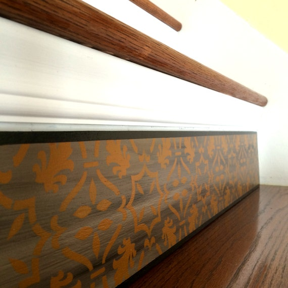 Carved Wood Stair Risers Stair Ideas Stamped Leather: Stair Riser Alternative To Vinyl Decals Stair Decals And