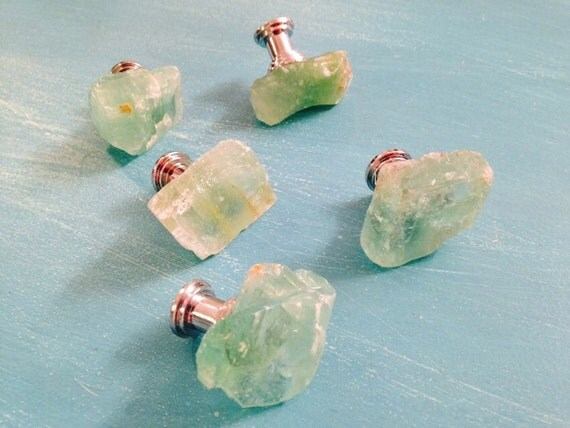 Green Calcite Knobs