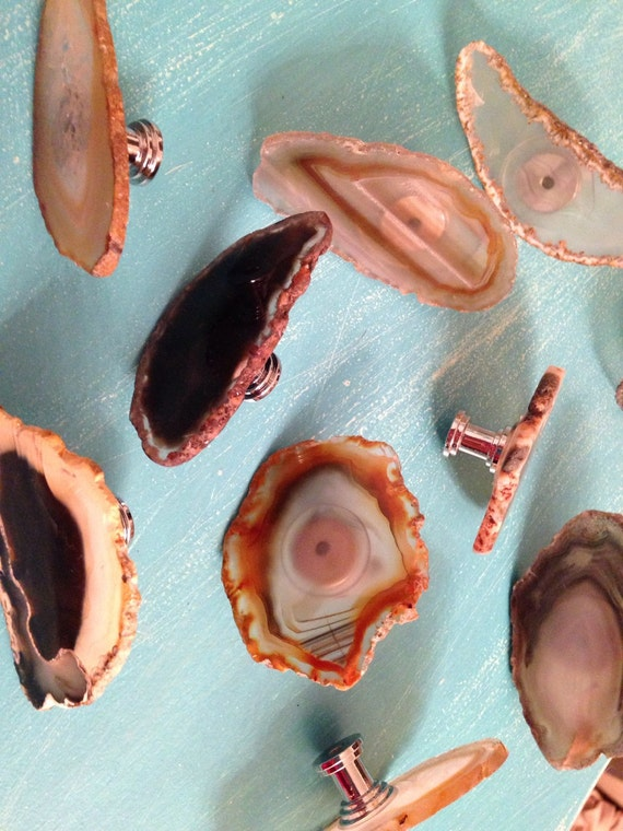 Natural Agate Knobs