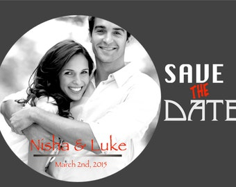 Save The Date Card, digital file