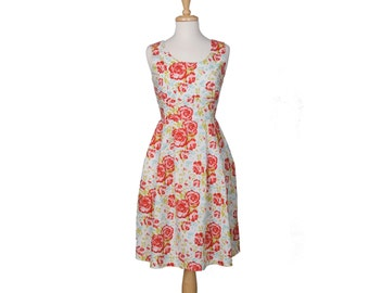Red Flower So Betty  Dress Available in sizes 2-14