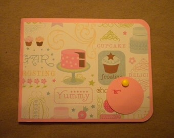 Pink Sweet Cakes Birthday Gift Card Holder