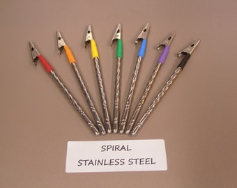 Bracelet Helper - Light Weight, 5.5 inches Long.- SPIRAL STAINLESS STEEL - 7 Color Choices!