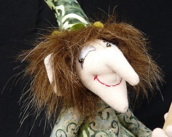 "Cloth Art Doll ""Chuckles"""
