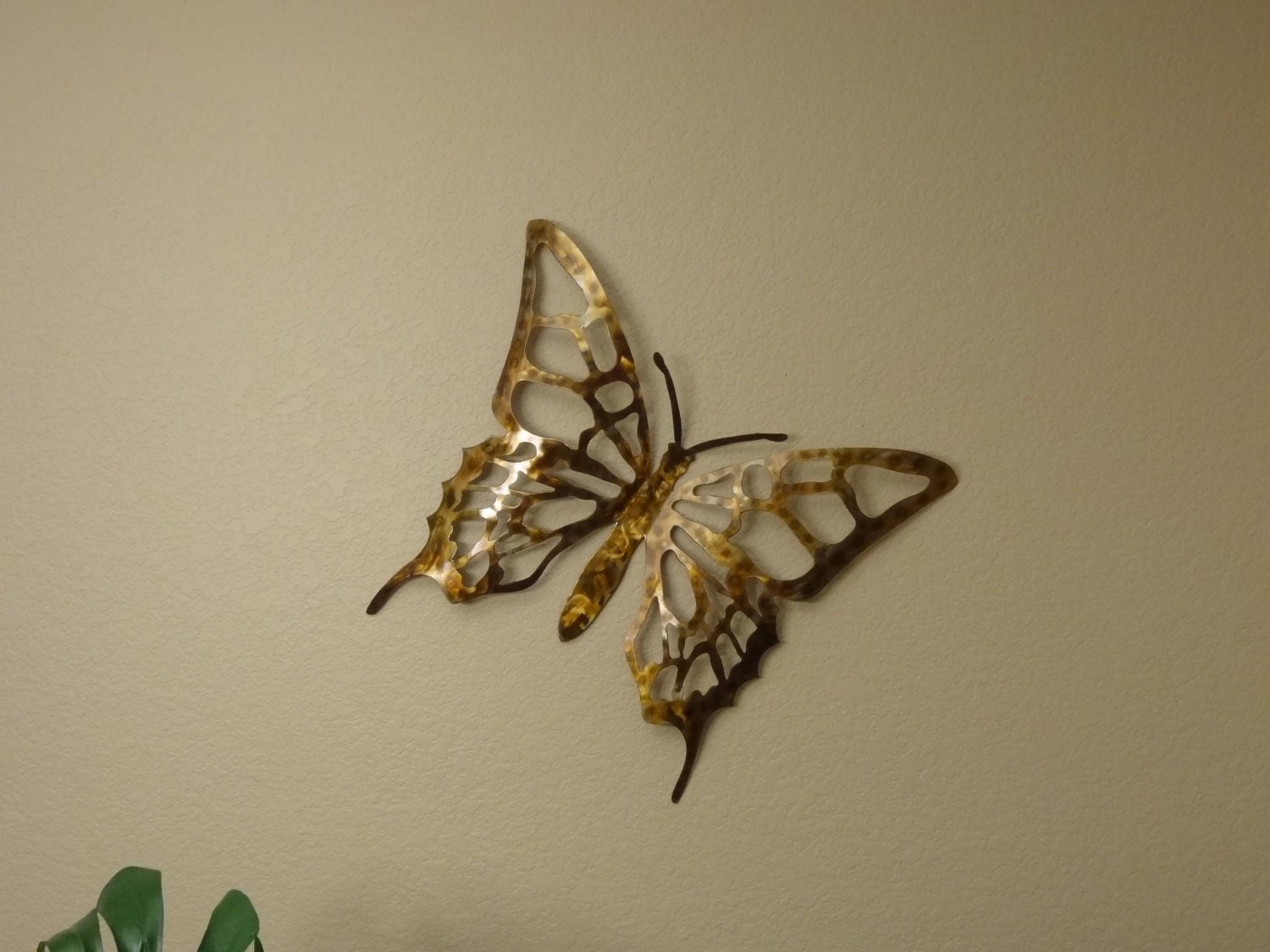 metal butterfly beautiful stainless butterfly wall art. Black Bedroom Furniture Sets. Home Design Ideas