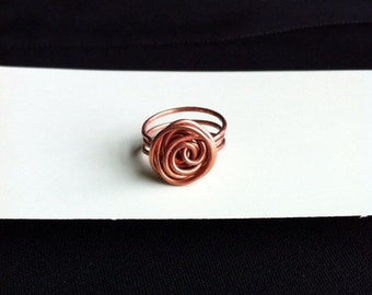 Finer Copper Rose Ring