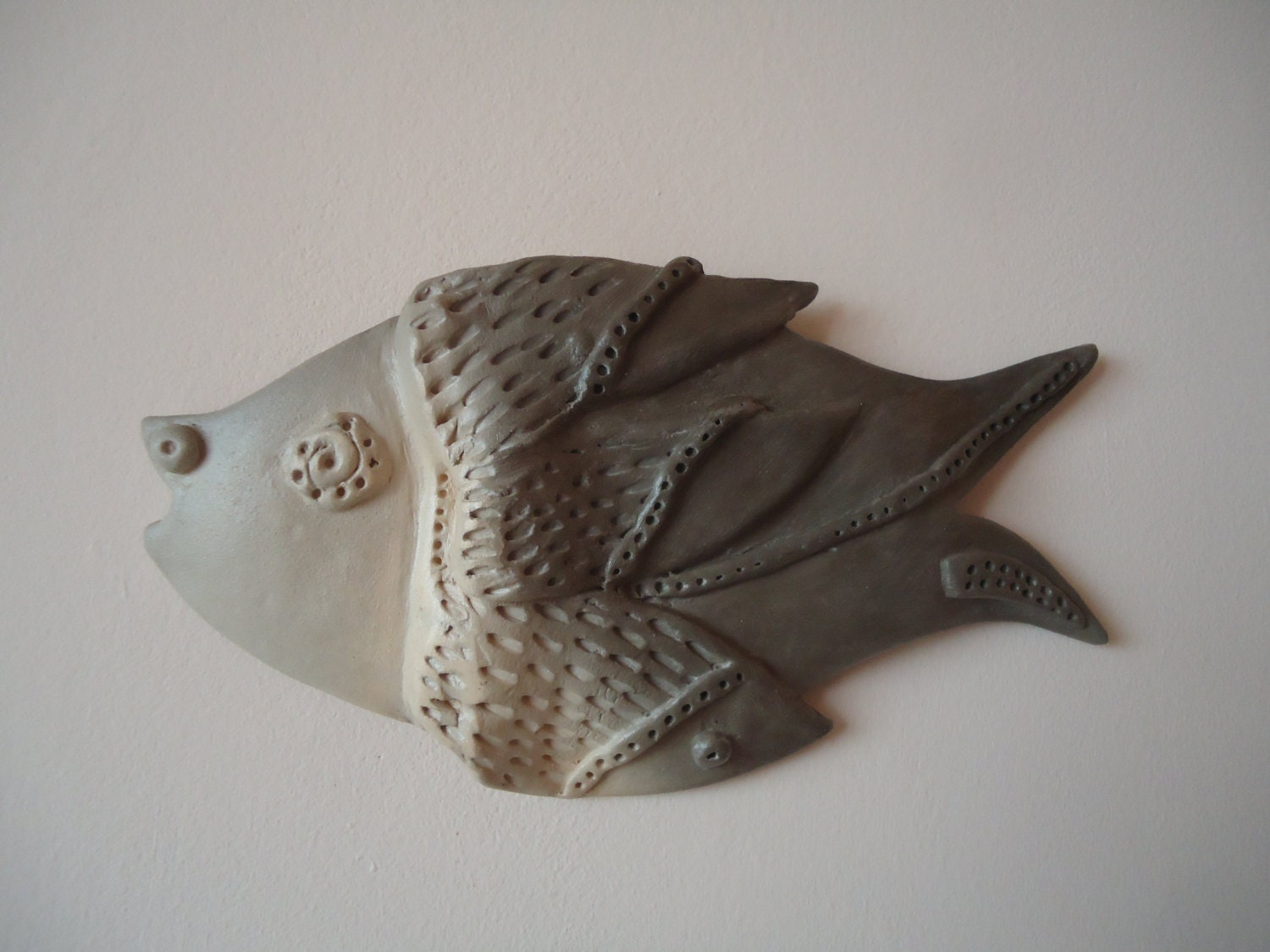 Ceramic fish wall art fish wall decor cute fish fish by for Fish wall decor