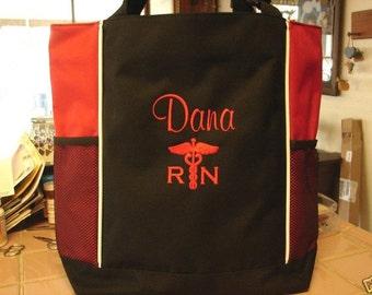 Tote Bag Personalize Nurse Student RN cna lpn ER Lvn Nicu Medical Assistant  Nursing Hospital Sale!!*