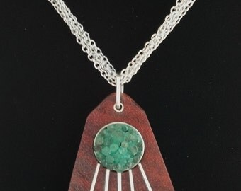Sterling Silver Colombian Emeralds Pendant