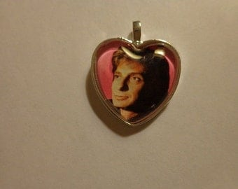 Nice Barry Manilow Photo Heart Necklace
