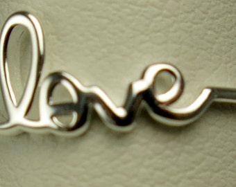 Sterling silver love ring