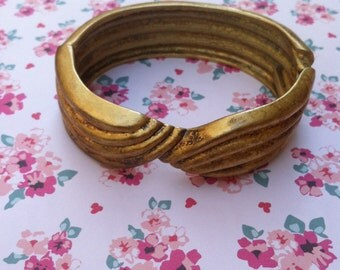 Vintage Gold Twist Bracelet