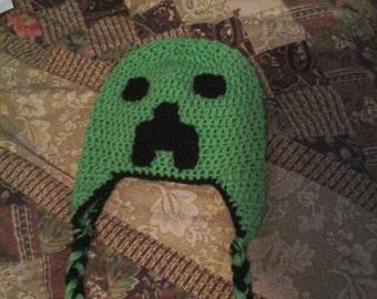 Minecraft crocheted hat