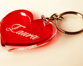 Personalized Keychain, Heart, Original Present,