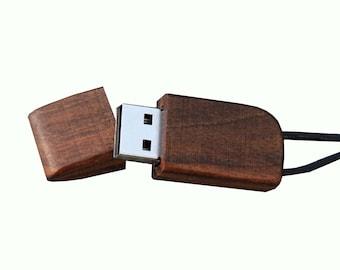 """Wood USB stick """"Rabbie walnut."""" 4-32 GB"""