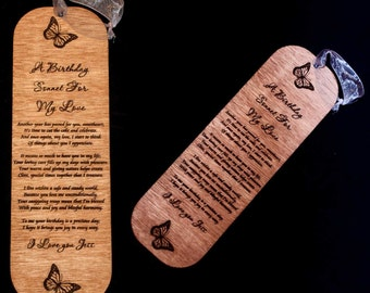 Laser Engraved Wooden Poem Plaque