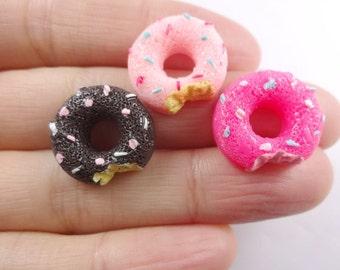 6pcs mixed Kawaii resin donuts cabochon sweets decoden