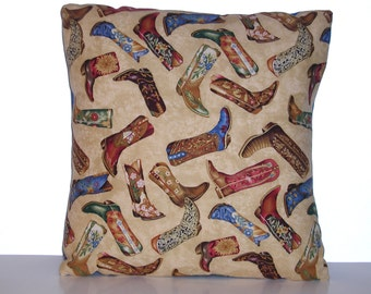 Western Boots - Accent Pillow