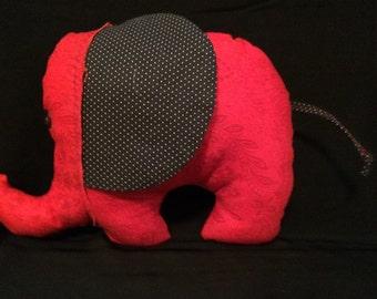 Red & Black Elephant Plush