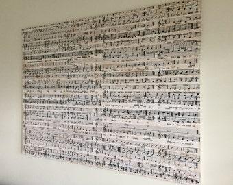 LARGE Original Music Art (Distressed or Clean Canvas)