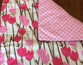 Infant Bedding Set w/custom embroidery Reversible