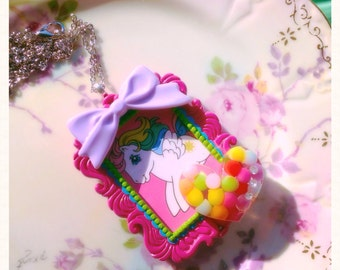 My Little Pony Cameo necklace g1 80s