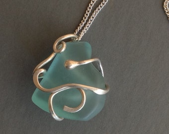 Desert Glass Necklace - Sterling Silver Necklace