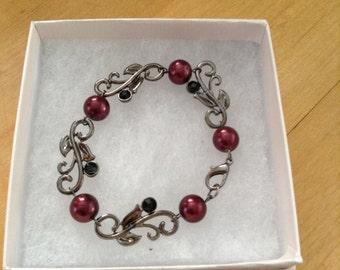Merlot Swirl Bracelet
