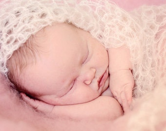 Mohair Baby Wrap / Newborn Photography Prop / Posing Wrap