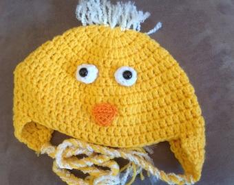Yellow Bird Crochet Hat