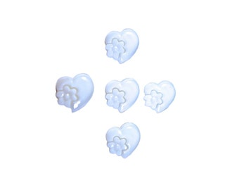 kids buttons , plastic buttons , heart , hearts withe , hearts , withe
