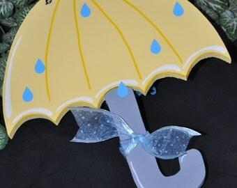 Wood and Vinyl Spring Umbrella Door Hanger