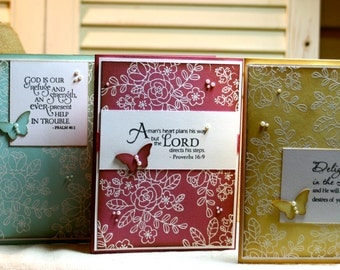 Handcrafted Encouragement Card - Set of Three