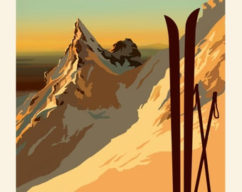 Pinnacle Ridge VIntage Style Poster