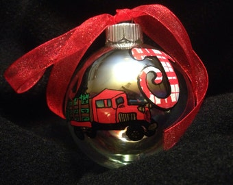 Custom hand painted Christmas ornaments