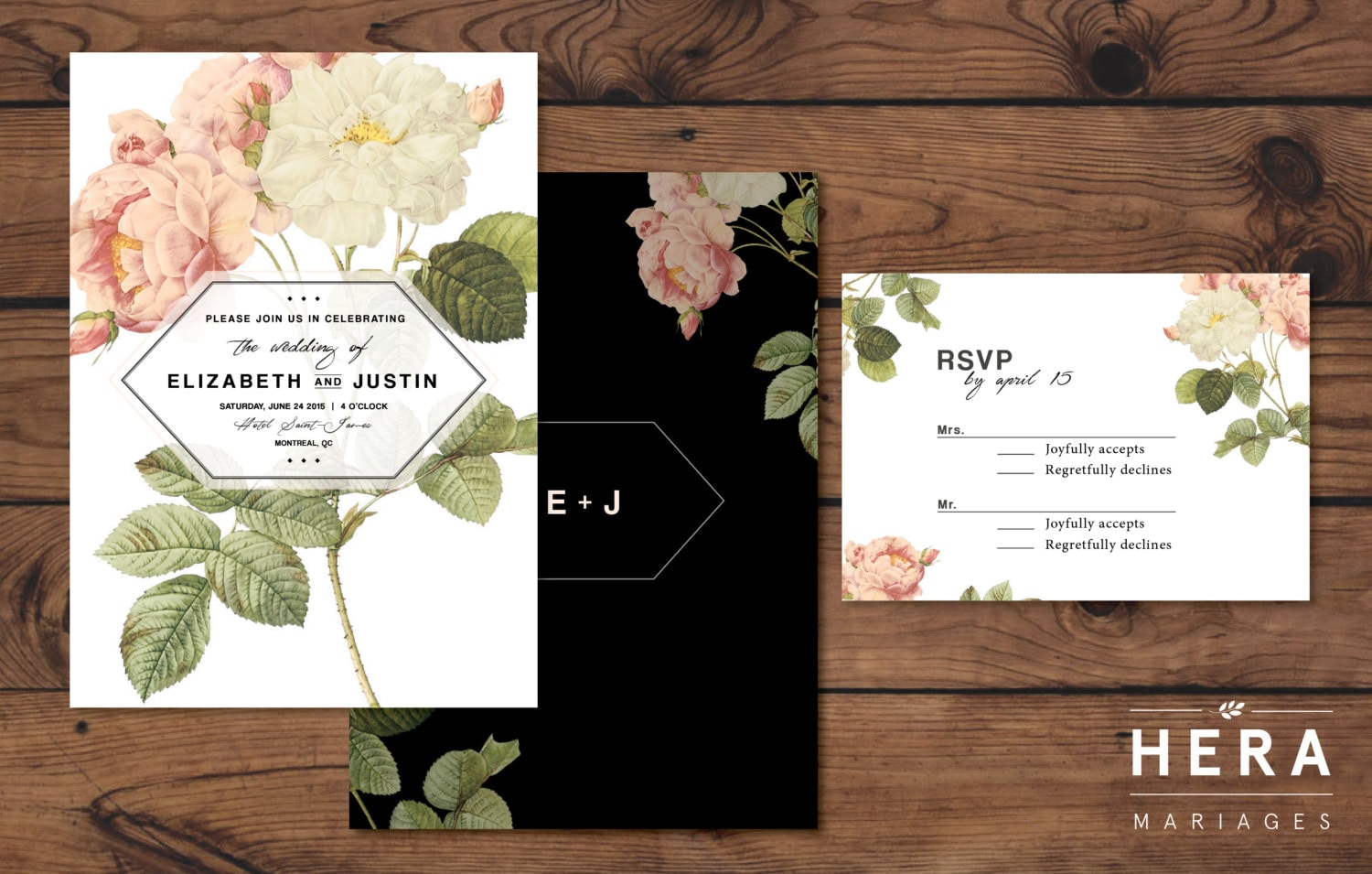 Printable Wedding Invitation Sets: Printable Wedding Invitation Set Wedding Invitation RSVP