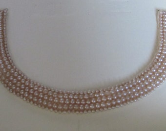 Vintage Faux-Pearl Collar/Necklace