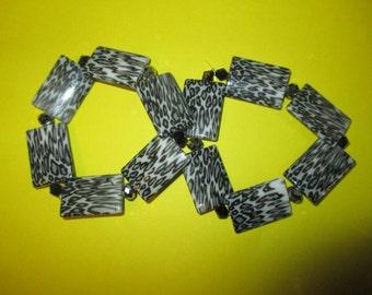 Grey leopard print designer bracelets