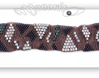 "Free form peyote bracelet ""Mariah"""