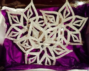 White Snowflake Napkin Ring