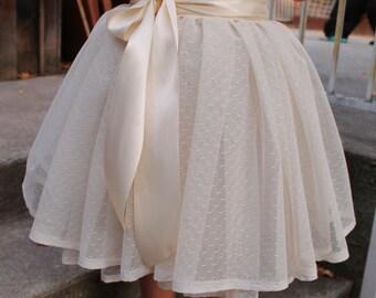 tulle skirt girls, Textured tulle skirt