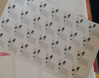 Bulldog Terrier Stickers! Dog Stickers! Perfect for your Erin Condren Life Planner, calendar, Paper Plum, Filofax!