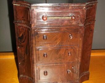 Vintage Park Sherman Marbled Hard Plastic Chest Dresser Bank 1950's NICE!!