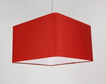 Lampshade 'Square Red 50'