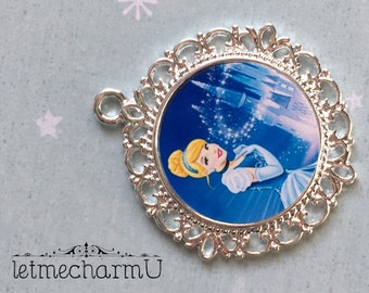 Disney Princess Cinderella Pendant - Cinderella Pendant - Disney Princess Cinderella Necklace - Cinderella Jewelry